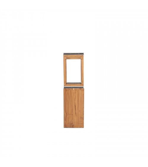 Teak look wood & Aluminium Planter Lantern