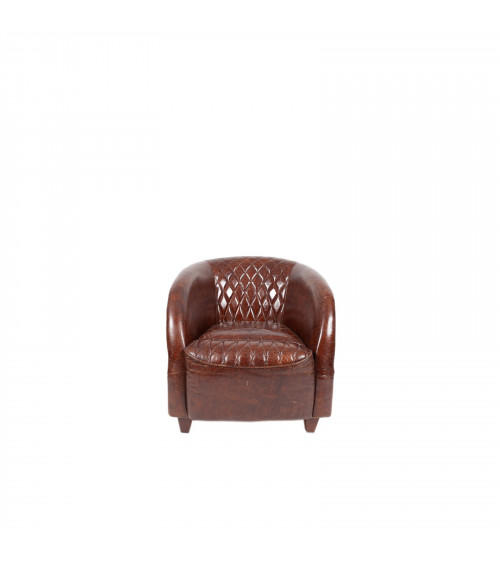 Full quilted padded Leather Armchair