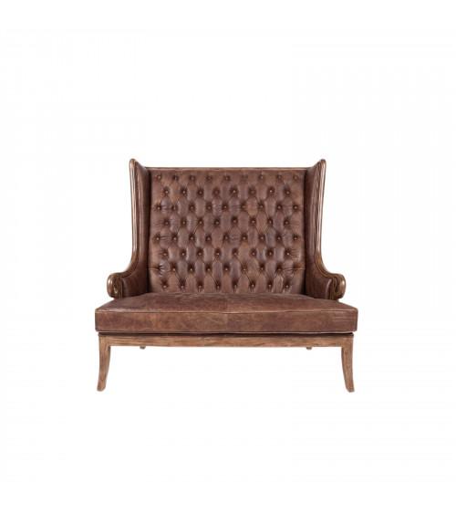Vintage Leather High Backrest Sofa