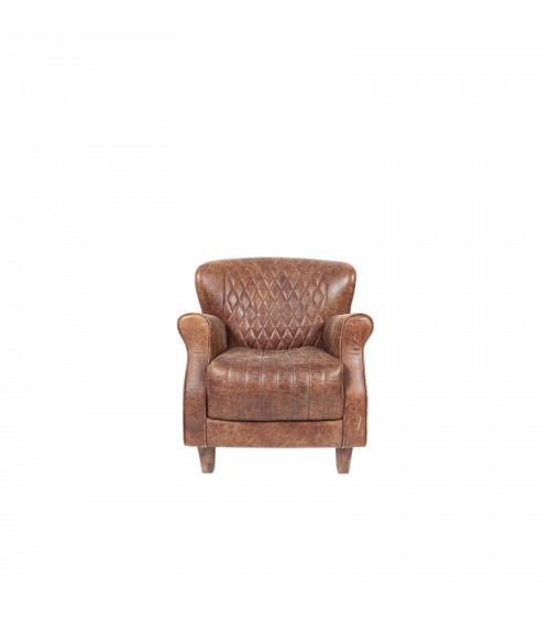Aluminium&Leather quilted Armchair