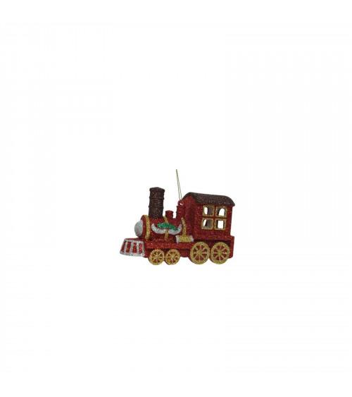 6x Treno Glitter, Decorazione Albero