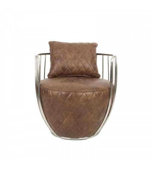 Egg-shaped Leather Armchair