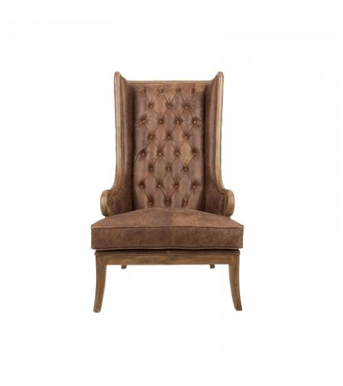 Vintage Leather High Backrest Chair