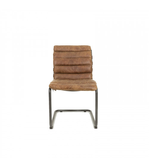 Leather & Iron Padded Chair