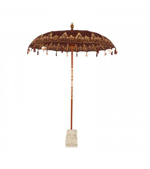 Ombrello Balinese Marrone