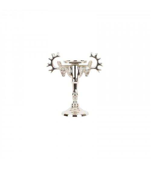 Brass Reindeer Pillar Holder