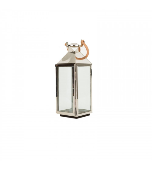 Steel Lantern with Leather handle