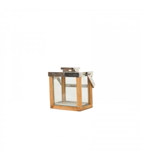 Teak wood lantern