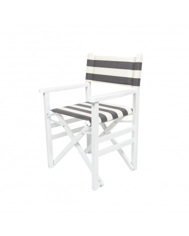 Sedia Regista Dark Grey Stripes
