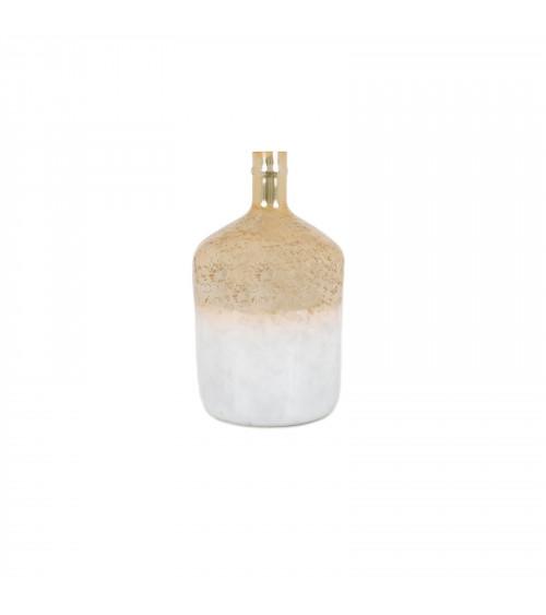 White & Gold Glass Bottle