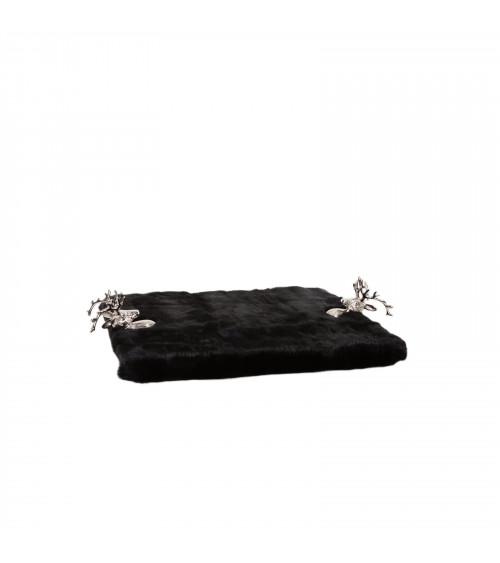 Black Fur Chalet Serving Tray