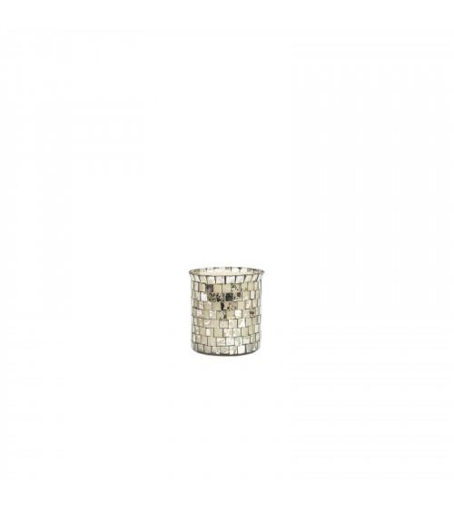 Bicchiere a Mosaico con Candela