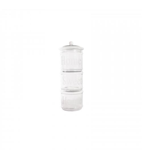 Set of 3 Stackable Jars L