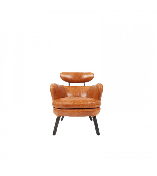 """""""Love"""" Leather Armchair Brown"""