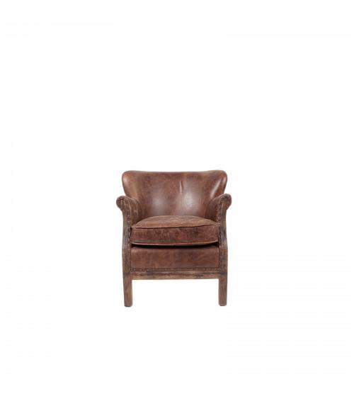 Vintage Leather & Juta Armchair