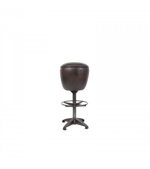 Cowhide Leather Bar Stool